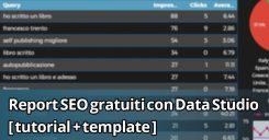 Report SEO gratuiti con Google Data Studio