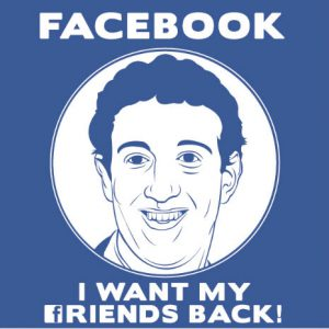 "dangerousminds: ""Facebook, i want my friends back!"""