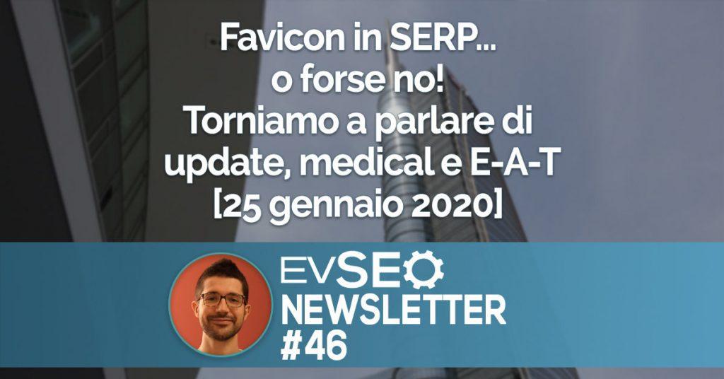 Copertina della EV SEO Newsletter numero 46